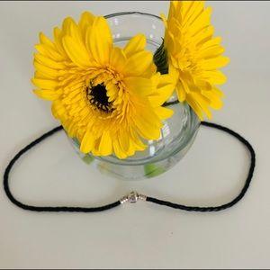 Pandora Black Leather Necklace/Bracelet